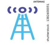 antennas icon symbol design... | Shutterstock .eps vector #1382600051