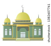 mosque building is the home of... | Shutterstock .eps vector #1382607761