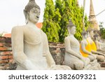 row of buddha statues in wat...   Shutterstock . vector #1382609321