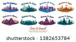 bundle of famous landmark of...   Shutterstock .eps vector #1382653784