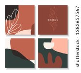a set of four square design... | Shutterstock .eps vector #1382657567