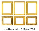 the antique gold frame on the...   Shutterstock . vector #138268961
