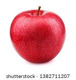 fresh red apple fruit isolated... | Shutterstock . vector #1382711207