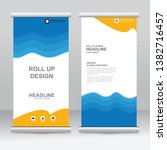 roll up banner stand template... | Shutterstock .eps vector #1382716457