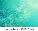 abstract metal vintage... | Shutterstock . vector #138271769
