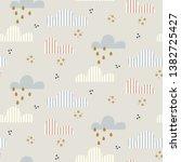 cloud pattern. cute sky...   Shutterstock .eps vector #1382725427