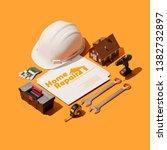 home repair professional... | Shutterstock . vector #1382732897
