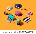travel and tourism isometric... | Shutterstock . vector #1382744171
