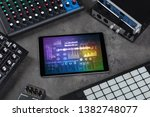 electronic music instruments ... | Shutterstock . vector #1382748077