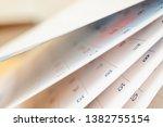 abstract blur calendar page... | Shutterstock . vector #1382755154
