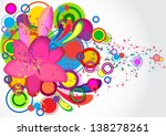 illustration with abstract... | Shutterstock .eps vector #138278261