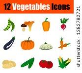 set of vegetables icons. full...