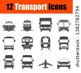 transportation icon set in... | Shutterstock .eps vector #1382782754