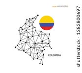 outline map of  colombia with... | Shutterstock .eps vector #1382800697