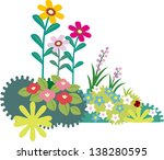 a variety of flowers and grass | Shutterstock . vector #138280595