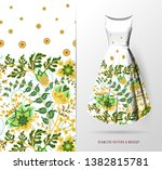 seamless pattern of hand draw... | Shutterstock . vector #1382815781