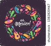 hola mexico  hello mexico ...   Shutterstock .eps vector #1382820467