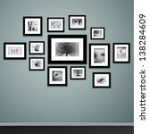 Photo Frames On Wall. Vector...