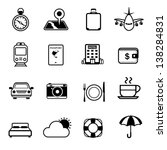 travel and hotel icons set | Shutterstock .eps vector #138284831