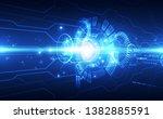 abstract futuristic digital... | Shutterstock .eps vector #1382885591