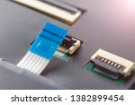 computer connector and cable on ...   Shutterstock . vector #1382899454