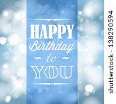 Happy Birthday Retro Vector...