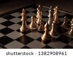 close up shot chess on the... | Shutterstock . vector #1382908961