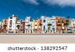 Colorful Coastal Village In...