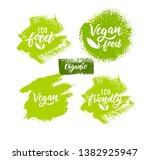 organic food hand lettering... | Shutterstock .eps vector #1382925947