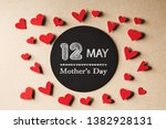 12 may mothers day message with ... | Shutterstock . vector #1382928131