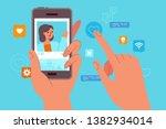 vector illustration in flat... | Shutterstock .eps vector #1382934014