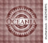 oceania red badge with... | Shutterstock .eps vector #1382938991