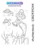 Cute Mermaid Cartoon Character...