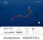 route dashboard. city street... | Shutterstock . vector #1382967311