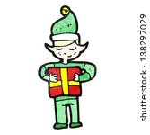 cartoon christmas elf | Shutterstock . vector #138297029