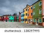 image with colorful houses in... | Shutterstock . vector #138297995