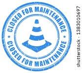 closed for maintenance vector... | Shutterstock .eps vector #1383010697