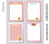 vector set of 4 to do lists... | Shutterstock .eps vector #1383015041
