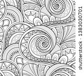 monochrome ethnic seamless... | Shutterstock .eps vector #1383030701