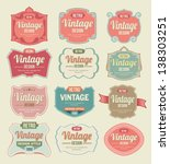 vintage labels | Shutterstock .eps vector #138303251