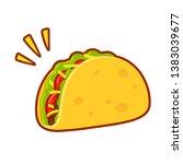 cartoon taco drawing.... | Shutterstock . vector #1383039677