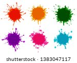 vector set splatter color paint ...