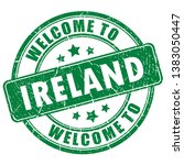 welcome to ireland vector stamp ... | Shutterstock .eps vector #1383050447