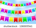 illustration of colorful bunting | Shutterstock . vector #138305561