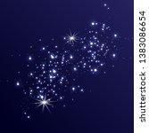 dust white. white sparks and...   Shutterstock .eps vector #1383086654