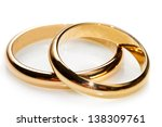 Couple Of Gold Wedding Rings On ...