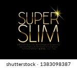 vector super slim golden... | Shutterstock .eps vector #1383098387