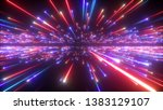 3d render  red blue fireworks ... | Shutterstock . vector #1383129107