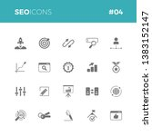 seo icons set  04   part of a... | Shutterstock .eps vector #1383152147