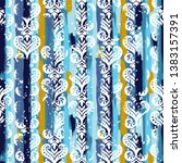 seamless vintage pattern with...   Shutterstock .eps vector #1383157391